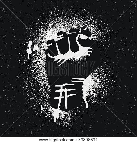Black protestee logo.