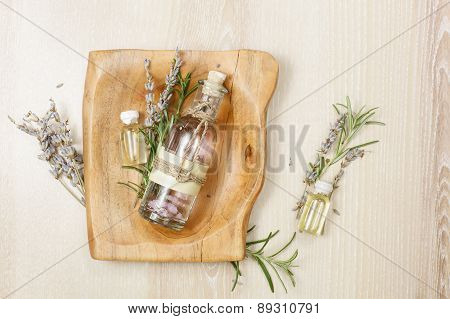 Rosemary and lavender essential oil