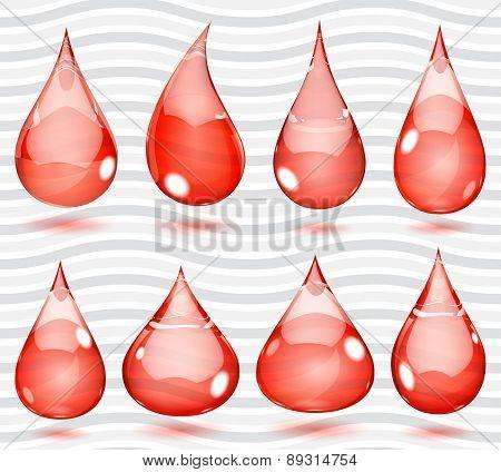Transparent Red Drops