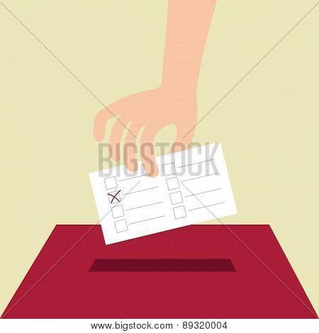 Vote ballot with box
