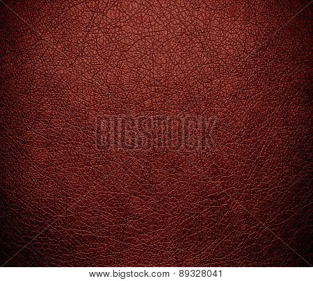 Burnt umber color leather texture background