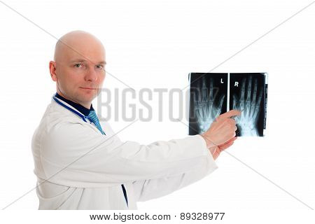 Young Doctor With X-ray Photograph