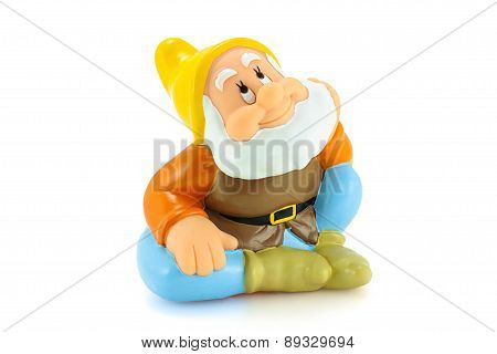 Happy Figure Toy Is One Of The Seven Dwarfs.