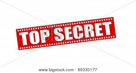 Rubber stamp with text top secret inside vector illustration poster
