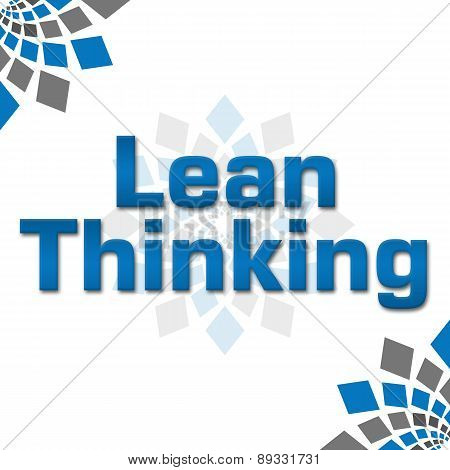Lean Thinking Blue Grey Squares Elements Square