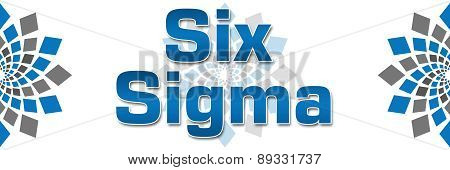 Six Sigma Blue Grey Squares Elements Banner