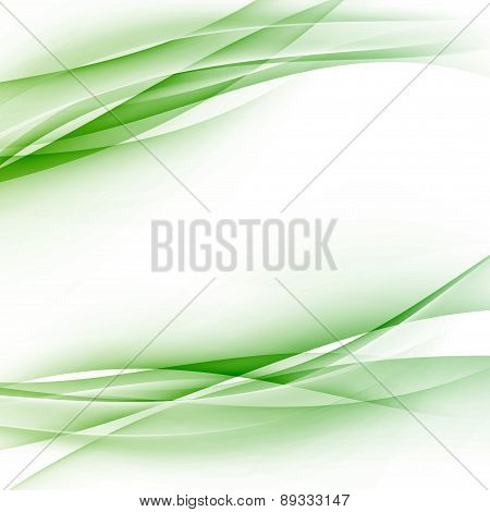 Green Swoosh Abstract Wave Folder Border