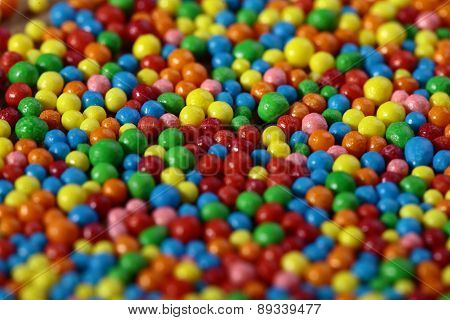 Colored Small Sweets Background