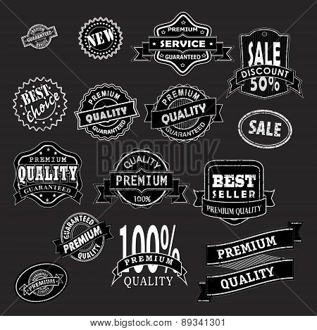 Premium Labels Black