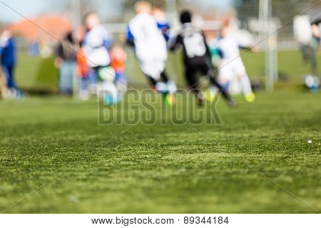Blurred Kids Playing Soccer