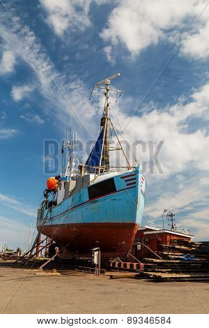 Fishing Vessel In Dock