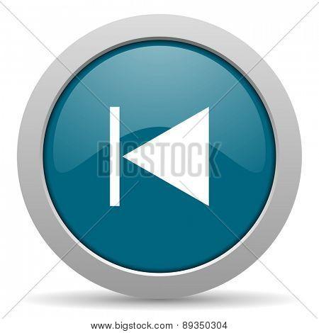prev blue glossy web icon