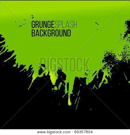 Vector Green Paint Splash Concept