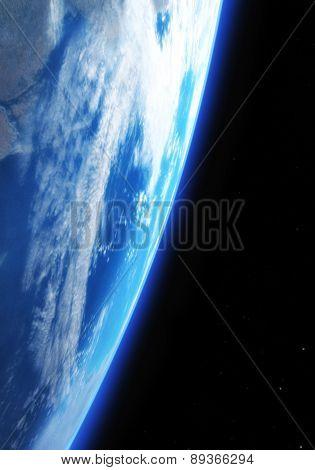 Digital 3D Illustration Of A Space Scene