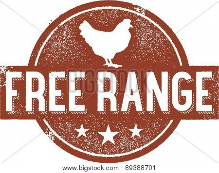 Free Range Chicken Stamp