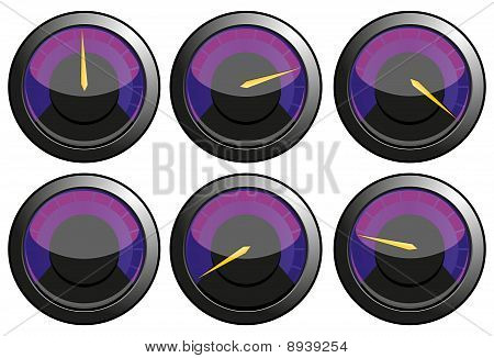 Purple speedometers