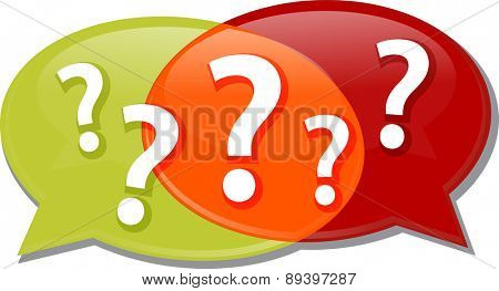 Illustration concept clipart questions queries dialog questions conversation speech bubbles vector