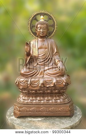 buddha image in enlightment pose