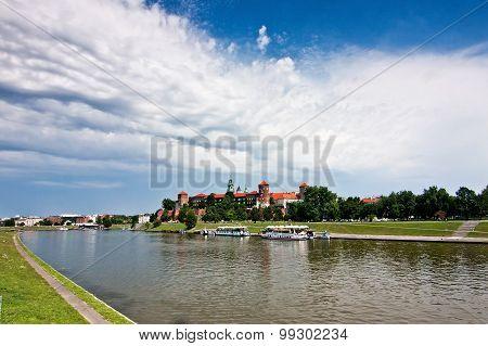 Wawel Castle And Vistula