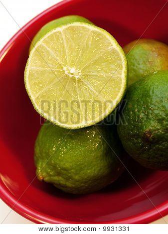 Bowl of fresh limes