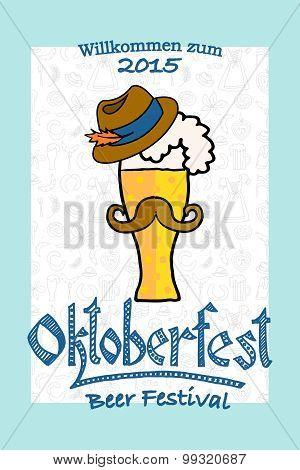 Vector Illustration Of Hipster Oktoberfest Logotype