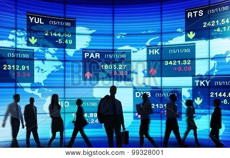 Stock Exchange Market Trading Concepts poster