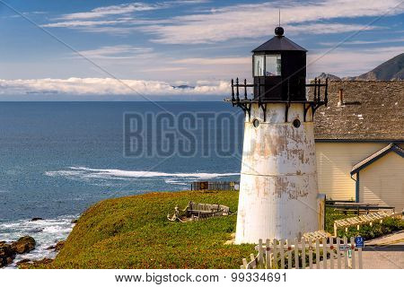 Lighthouse in Pacific Ocean
