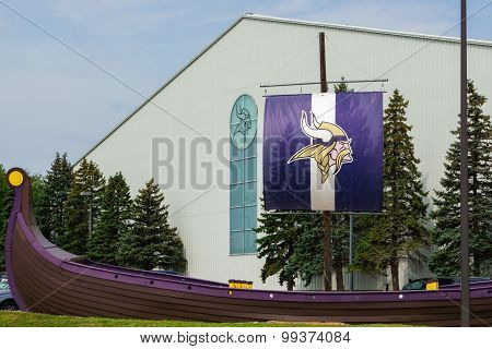 Minnesota Vikings Practice Facility And Flag