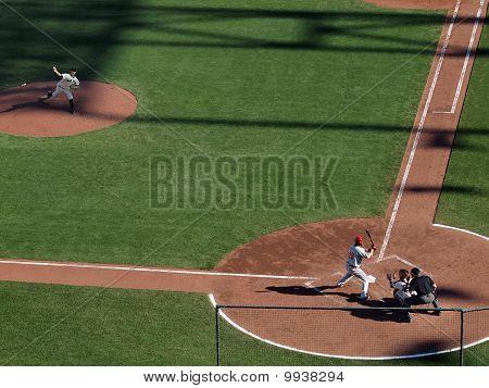 Pitcher Matt Cain Steps To Throw Pitch To Batter Jayson Werth