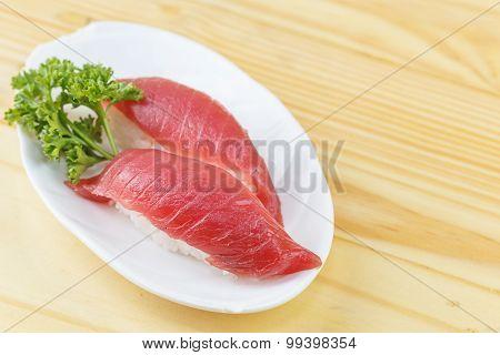 Traditional Japanese Food, Maguro (tuna) Sushi