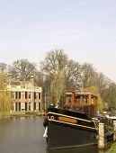 River vieuw, de Vecht, Holland poster