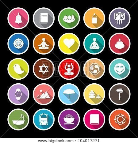 Zen Society Flat Icons With Long Shadow