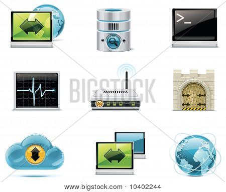 Vector internet and network icons.