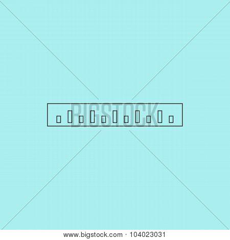 Straightedge Vector Icon