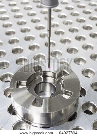 Inspection high precision mold part by CMM poster