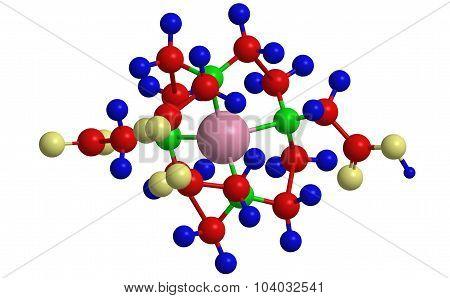 Molecular structure of Gadolinium Gadoteric acid (Gd-DOTA) MRI contrast agent poster