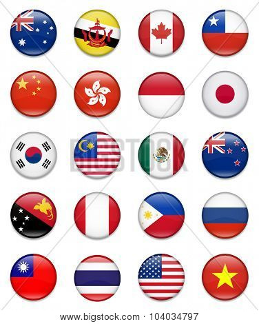 Asia-Pacific Economic Cooperation-Apec-Flag Collection-Complete