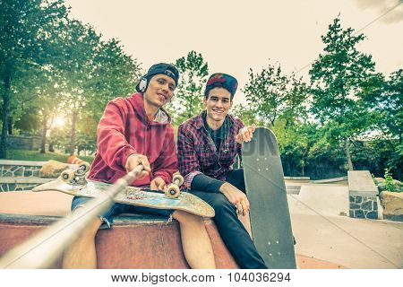 Friends In A Skate Park