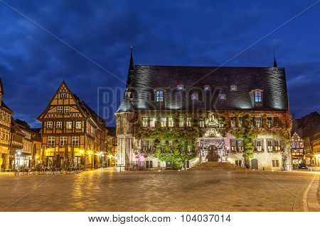 City Hall Of Quedlinburg On Markt Square