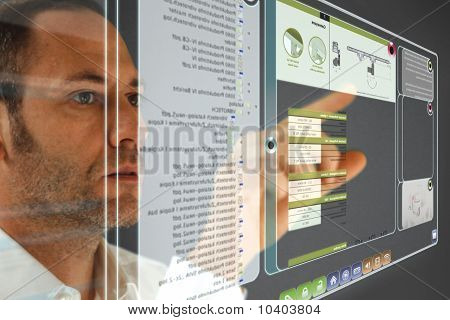 Futuristic LCD Display
