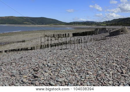 Old Wartime Bunker At Porlock Weir In Somerset