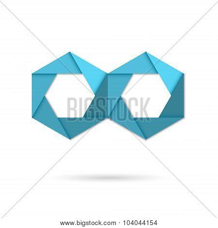 Hexagon Infinity Logo Sign