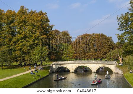Trinity Bridge In Cambridge