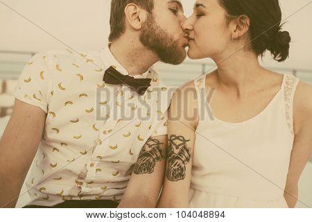 beautiful couple close up