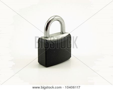 Lock on white