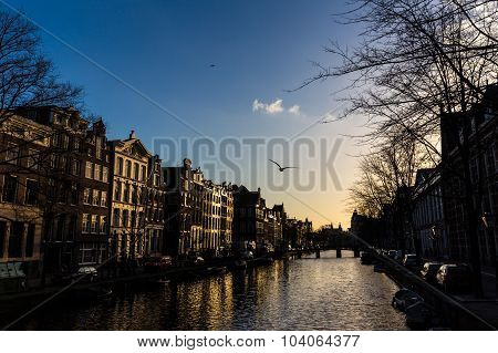 Amsterdam Canal And The Canal Houses
