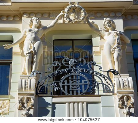 Details of Art Nouveau buildings