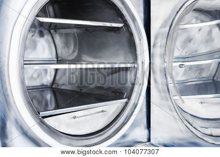 new open vacuum furnace oven close up