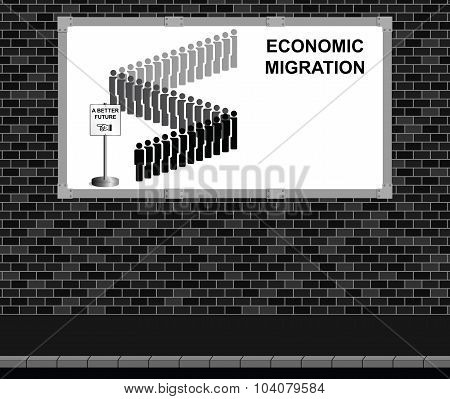 Economic migration advertising board