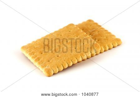 Two Cookies Isolated On White